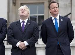 Boris Johnson with his old school friend -  and fellow Oxford graduate -  Prime Minister David Cameron