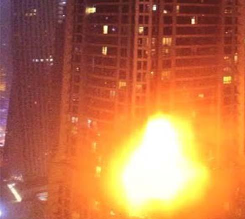 Torch tower blaze
