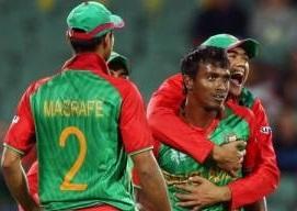 Bangladesh stuns England with a 15-run victory.
