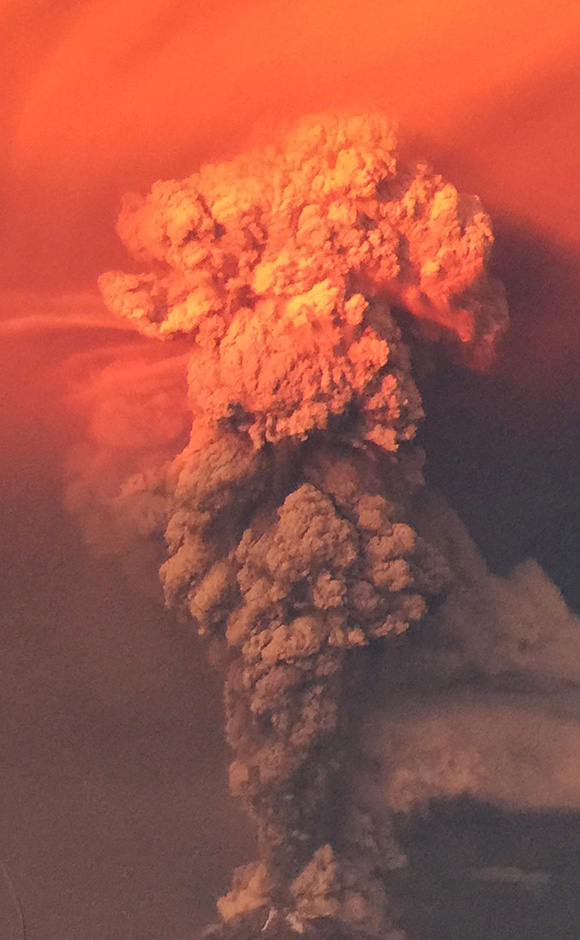 Calbuco Volcano erupted twice