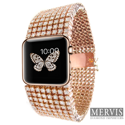 Check out this ultra luxury Apple Watch clad in rose gold and studded in diamonds – costs £20,000