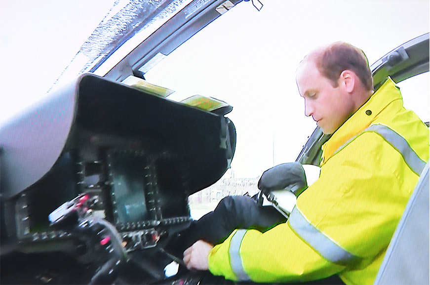 Prince William piloting air ambulance