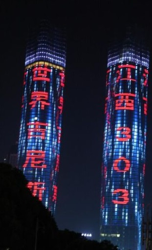 china twin tower led