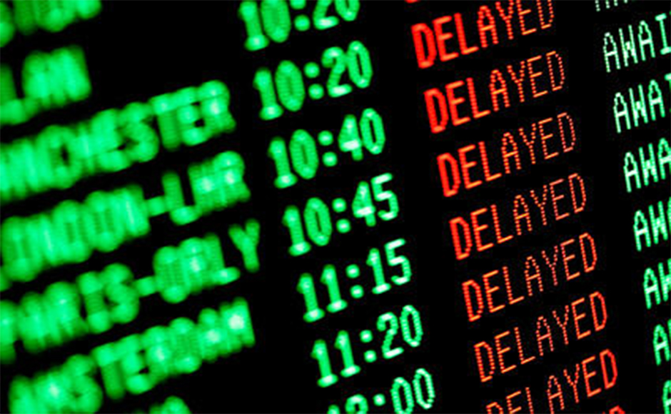 delayed airline passengers