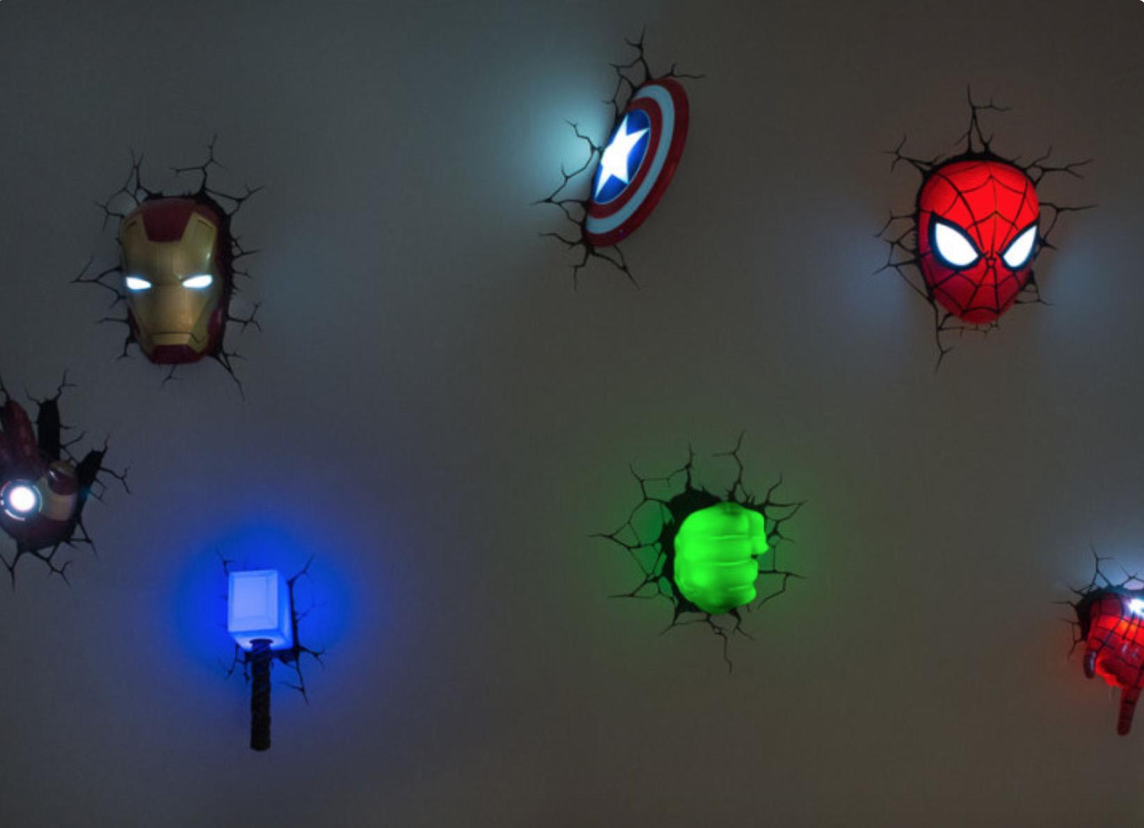3-D lights.