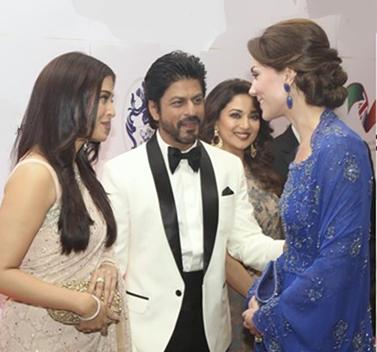 Kate meeting Shah Ruk Khan