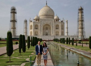 Royal couple William and Kate at Taj Mahal