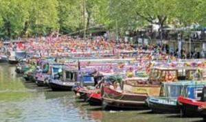 Canal boats parade
