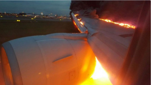 Signapore Airlines fire