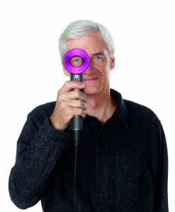 James Dyson with Dyson Supersonic Hair dryer