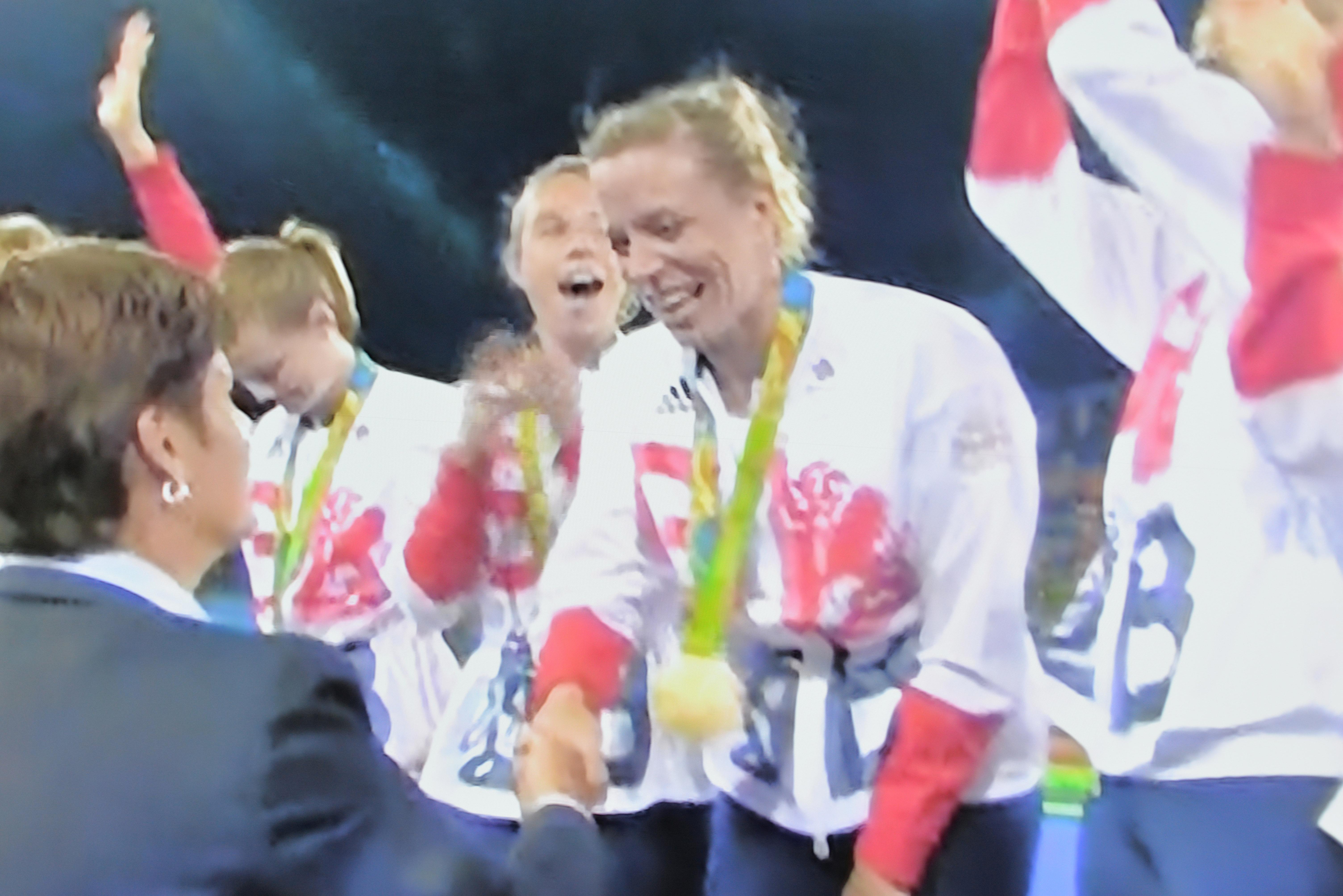 Kate's Hockey gold medal