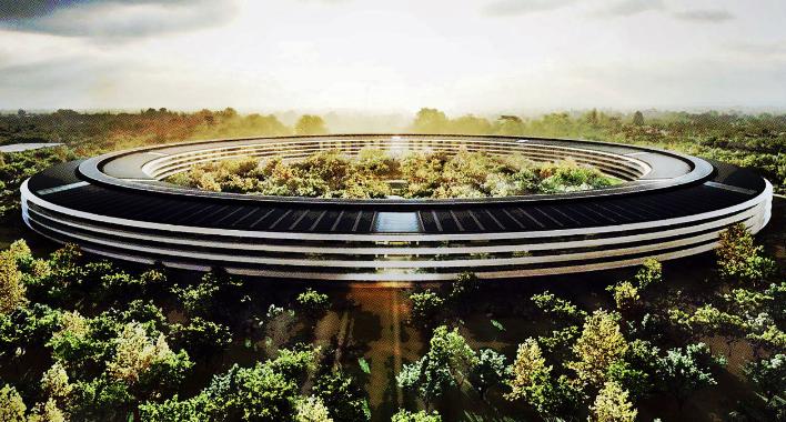 "Apple's new head quarters ""Spaceship"" in Cupertino, California"