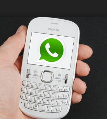 Old Nokia with WhatsApp