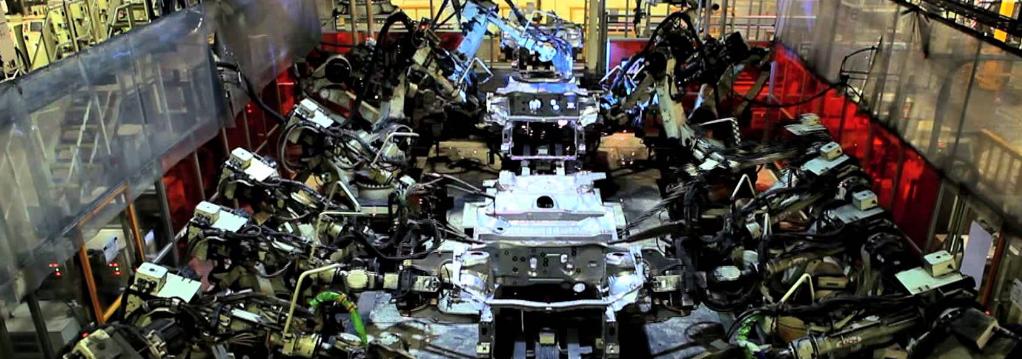 Toyota UK factory forecourt