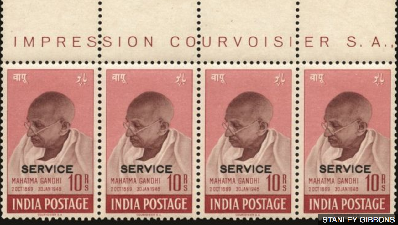 Gandhi stamp sold for £500k
