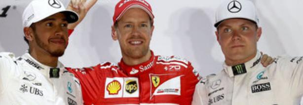 Hamilton, Vettel and Bottas