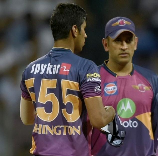 Sundar and Dhoni
