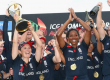 England Women's Cricket lifting the World Cup for the fourth time