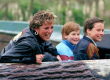 Princess Diana and her sons Prince Harry and Prince William at Thorpe Park in 1993.