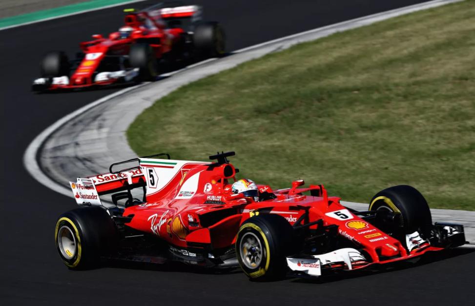 Sebastian Vettel and Kimi Raikkonen one and two in Hungrian Grand Prix