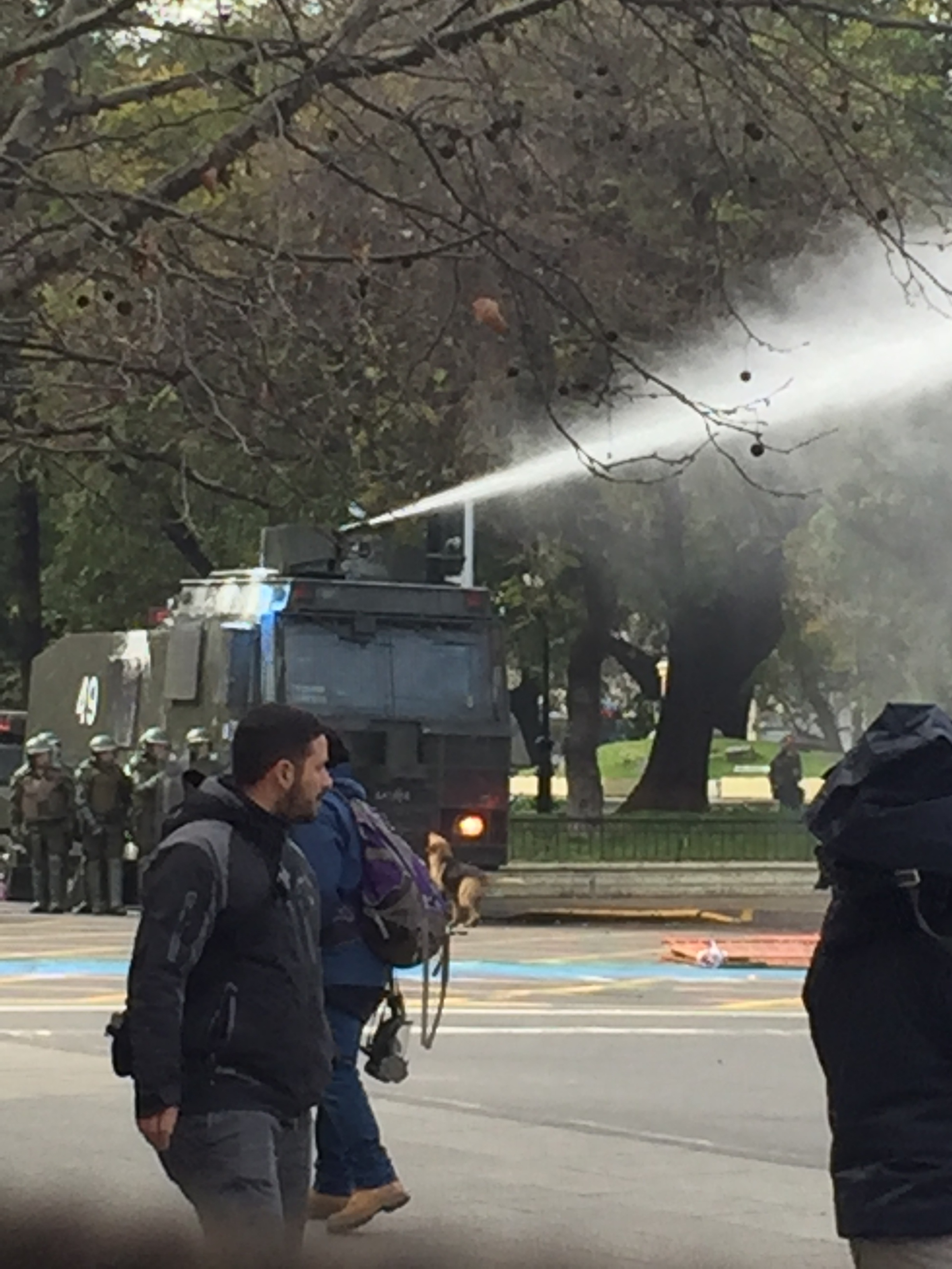 Student Tution fee  protest rally turned nasty as the authorities have to resort to water cannon