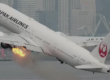 JAL Airlines in flames