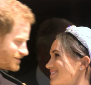 Happy married couple Harry and Meghan