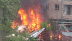 Plane crash at Ghatkopar