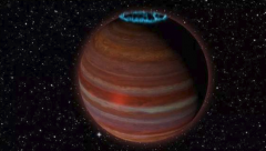 Artist's conception of SIMP JO1365663+0933473. An object with 12.7 times the mass of Jupiter. National Radio Astronomy Observatory