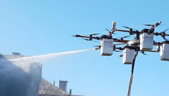 The Aerones Drone which can wash windows and fight fires.