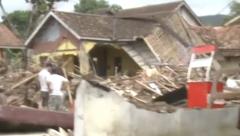 Tsunami  rescue operations in Indonesia