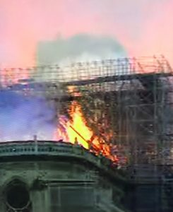 Norte dame on fire