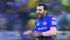 MI captain Rohit Sharma leaps with joy after winning IPL 2019