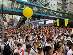 Hong Kong Protest against new extradition bill. Pic Laurence Price