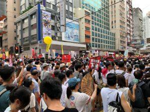 Hong Kong Street blocked by protesters