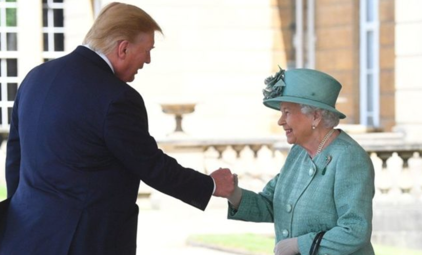 Trump arrives in London welcomed by Queen to palace