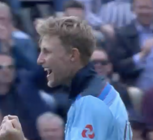 Joe Roots unbeaten century and two wickets ensured England win.