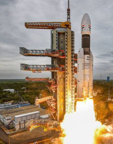 India launches the country's  first moon mission since 2008