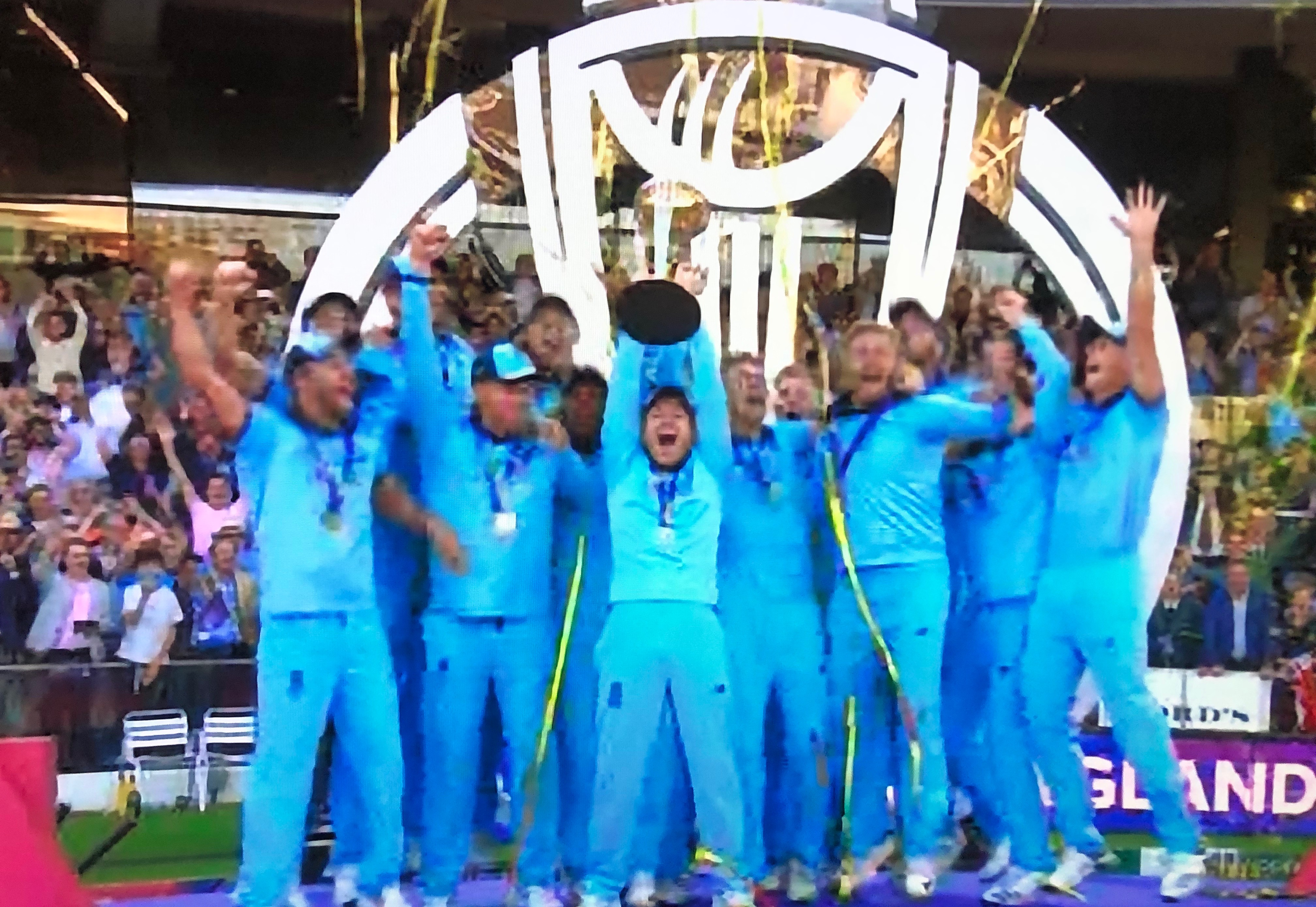 England win the World Cup for the first time after beating New Zealand