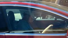 Tesla driver filmed asleep as he was driving along the motorway