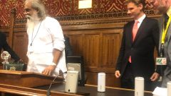 Dr KJ Yesudas Honoured at Houses of Parliament by Justice secretary Phil  MP and Martyn Day MP and Councillor Manju
