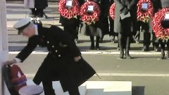 HRH Prince Charles laying a wreath on behalf of the Queen