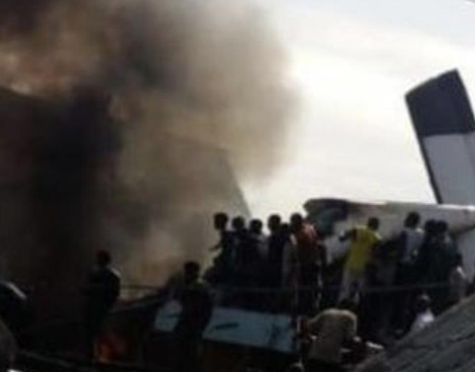 Crash site  north Goma.