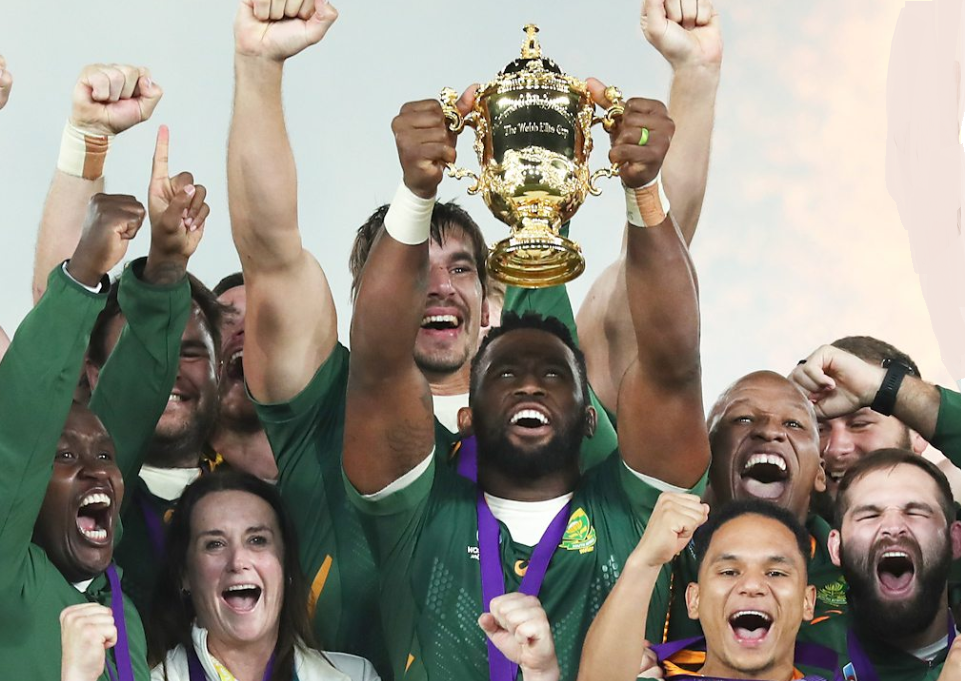 Dominant South Africa lifts the Rubgy World cup after defeating England