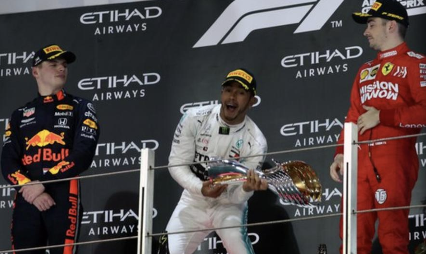 Mercedes' Lewis Hamilton wins the Abu Dhabi GP
