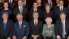 Nato leaders at Buckingham Palace with Queen