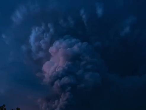 Volcanic storm in Philippines
