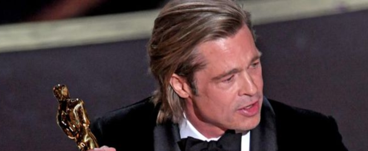 Brad Pitt won the supporting actor award for Once Upon A Time In Hollywood