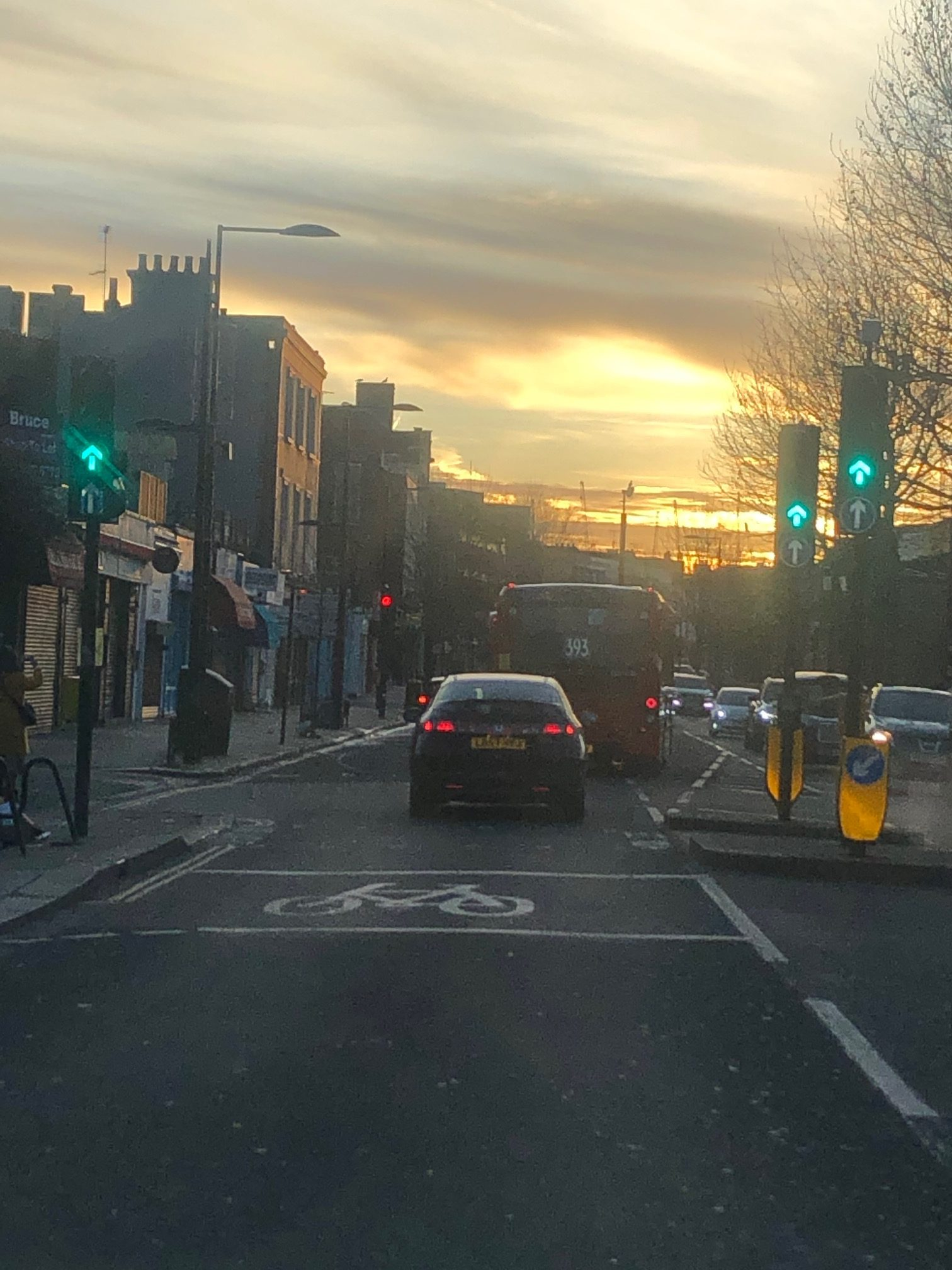 Sunrise in Camden, London
