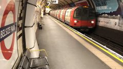 Deserted Belsize Park London Tube station